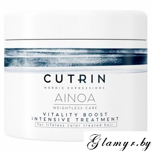 CUTRIN. Маска для волос CUTRIN AINOA VITALITY BOOST INTENSIVE TREATMENT 150 мл