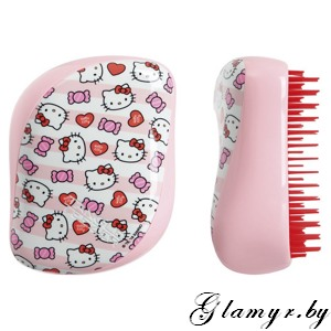 Расческа Tangle Teezer Compact Styler Hello Kitty Candy Stripes - розовый