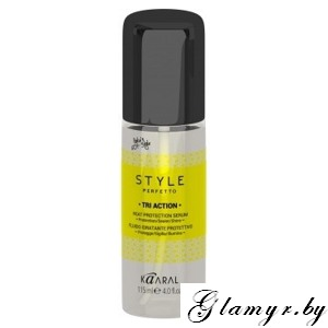 KAARAL*. STYLE PERFETTO. TRI ACTION HEAT PROTECTION SERUM Сыворотка для волос с секущимися кончиками. 115 мл