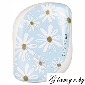 Расческа Tangle Teezer Compact Styler Dreamy Daisies - белый/голубой