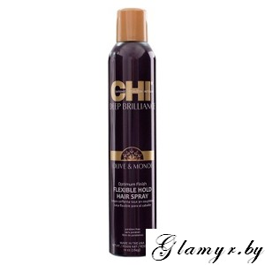 CHI Deep Brilliance Olive & Monoi Optimum Finish Flexible Hold Hairspray Лак для волос, 284 гр
