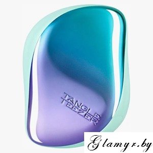 Расческа Tangle Teezer Compact Styler Petrol Blue Ombre - голубой хром