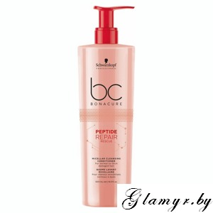 "BONACURE. Мицеллярный очищающий кондиционер ""Peptide Repair Rescue"" (Micellar Cleansing Conditioner For normal to thick damaged hair). 500 мл"