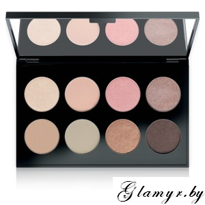 MAKE UP FACTORY. Тени для век International Eyes Palette, №04  Nordic Nudes. 8*1,5гр