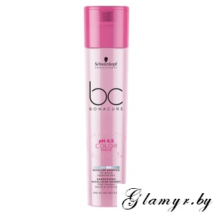 "BONACURE. Нейтрализующий Шампунь ""pH 4.5 Color Freeze"" (Silver Micellar Shampoo For grey & lightened hair).250 мл"