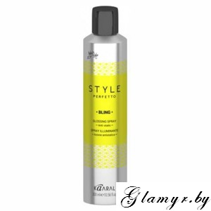KAARAL*. STYLE PERFETTO. BLING ANTI FRIZZ GLOSSING SPRAY Спрей для блеска волос. 300 мл