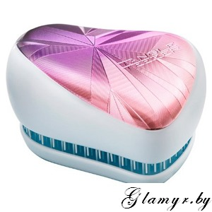 Расческа Tangle Teezer Compact Styler Smashed Holo Blue - сиреневый/белый
